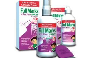 Фулл маркс (fullmarks) от вшей: отзывы, инструкция по применению средства, состав, цена