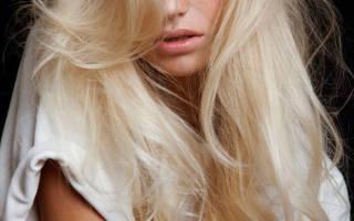 Уход за осветленными волосами